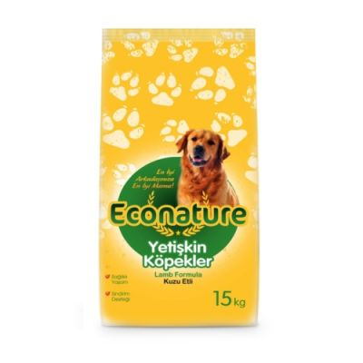 Econature Kuzu Etli Yetişkin Köpek Maması 15Kg