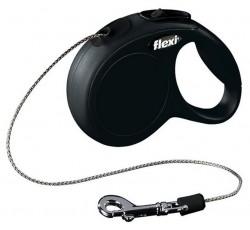 Flexi - Flexi New Classic 8 Mt İpli Tasma Medium Siyah
