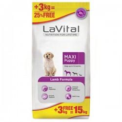 La Vital - La Vital Büyük Irk Kuzu Etli Yavru Köpek Maması 12+3 Kg