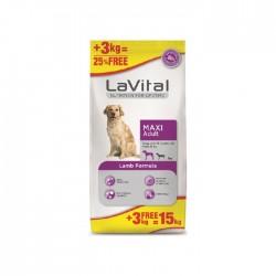 La Vital - La Vital Büyük Irk Yetişkin Kuzulu Köpek Maması 12+3Kg