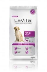 La Vital - La Vital Büyük Irk Yetişkin Kuzulu Köpek Maması 3Kg