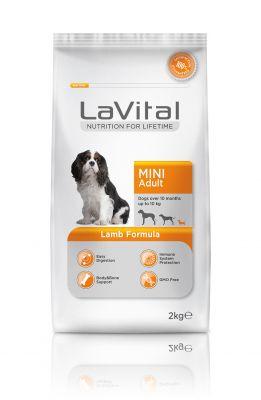 La Vital Küçük Irk Yetişkin Kuzu Etli Köpek Maması 2KG