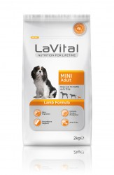 La Vital - La Vital Küçük Irk Yetişkin Kuzu Etli Köpek Maması 2KG
