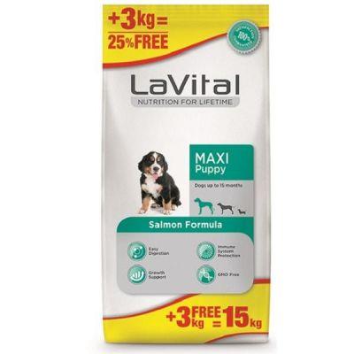 La Vital Maxi Puppy Somonlu Yavru Köpek Maması 12+3 Kg