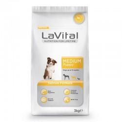 La Vital - La Vital Orta Irk Somonlu Yavru Köpek Maması 3 Kg