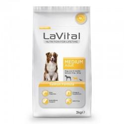 La Vital - La Vital Orta Irk Somonlu Yetişkin Köpek Maması 3 Kg