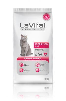 La Vital Somonlu Yetişkin Kısırlaştırılmış Kedi Maması 12 KG