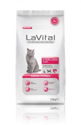 La Vital Somonlu Yetişkin Kısırlaştırılmış Kedi Maması 1,5 KG