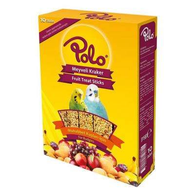 Polo Meyveli Muhabbet Kuşu Krakeri 10 lu Paket