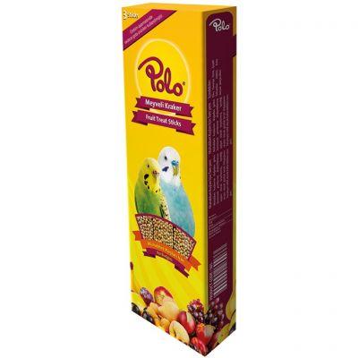 Polo Meyveli Muhabbet Kuşu Krakeri 3 lü Paket