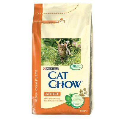 Purina Cat Chow Hindili ve Tavuklu Yetişkin Kedi Maması 15 Kg.