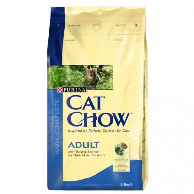 Purina Cat Chow Somon ve Ton Balıklı Yetişkin Kedi Maması 15 Kg.