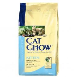Purina - Purina Cat Chow Tavuklu Yavru Kedi Maması 15 Kg.