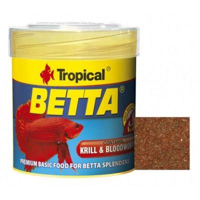 Tropical Betta Krill ve Kan Kurdu Katkılı Pul Yem 50 Ml