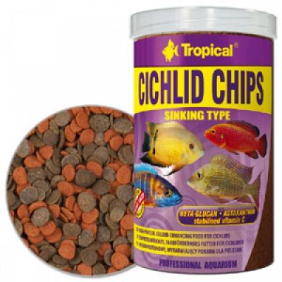 Tropical Cichlid Chips Balık Yemi 100 Gr.