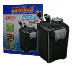Life Tech - Life Tech 835 Dış Filtre 1000lt/Saat 3 Sepetli Dolu
