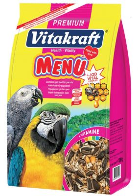 Vitakraft Menü Premium Papağan Yemi 5x1000 Gr.