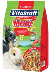 Vitakraft - Vitakraft Menü Vital Premium Tavşan Yemi 1000 Gr.
