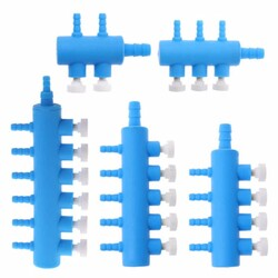 Sobo - Ayarlanabilir Akvaryum Plastik Hava Dağıtıcı 5 Çıkışlı
