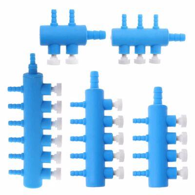 Ayarlanabilir Akvaryum Plastik Hava Dağıtıcı 6 Çıkışlı