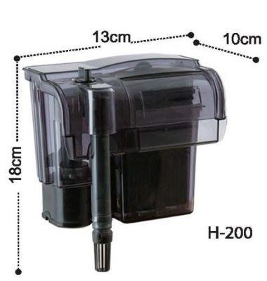 Dophin H200 Askı Şelale Filtre 370 L/H