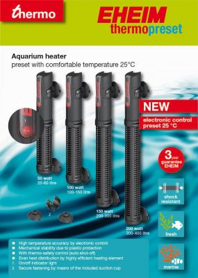Eheim Thermopreset 150 Watt Akvaryum Isıtıcısı