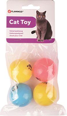 Flamingo 4lü Pipon Top 4cm Kedi Oyuncağı