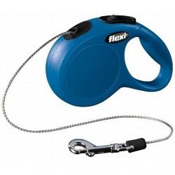 Flexi - Flexi New Classic 8 Mt İpli Tasma Medium Mavi