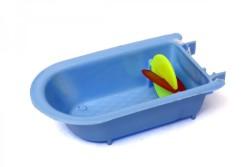 Kardelen - Kardelen Fırfırlı Aynalı Plastik Kuş Banyoluğu