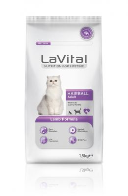 La Vital Kuzu Etli Yetişkin Hairball Kedi Maması 1,5 KG