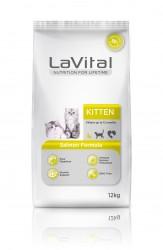 La Vital - La Vital Somonlu Yavru Kedi Maması 12 KG