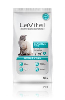 La Vital Somonlu Yetişkin Hassas Kedi Maması 12 KG