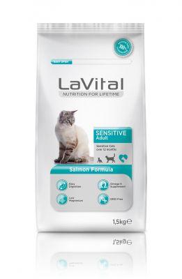 La Vital Somonlu Yetişkin Hassas Kedi Maması 1,5 KG