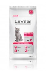 La Vital - La Vital Somonlu Yetişkin Kısırlaştırılmış Kedi Maması 1,5 KG