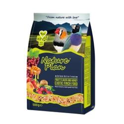 Nature Plan - Nature Plan Meyve Aromalı ve Ballı Egzotik Finch Yemi 24x500 Gr