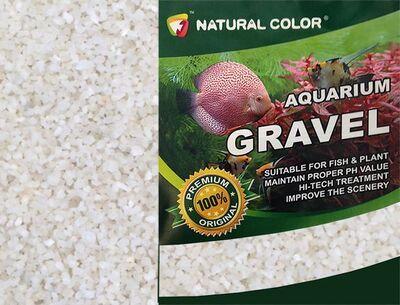 Naturel Color Beyaz Quartz Akvaryum Kumu 2-4 mm 10 Kg