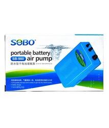 Sobo - Sobo SB-980 Akvaryum Pilli Hava Motoru