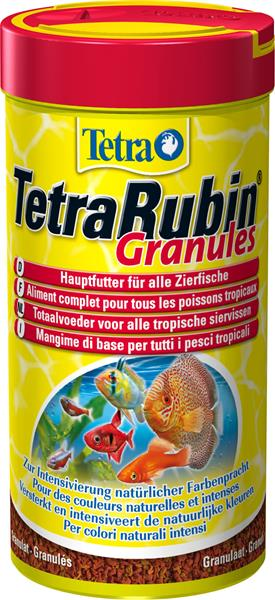 Tetra Rubin Granules Granül Renk Yemi 250 ML Amerikan Chiclid Yemleri,  Granül Balık Yemleri, Vatoz ve Çöpcü Balığı Yemleri, Tropheus Yemleri,  Japon ve