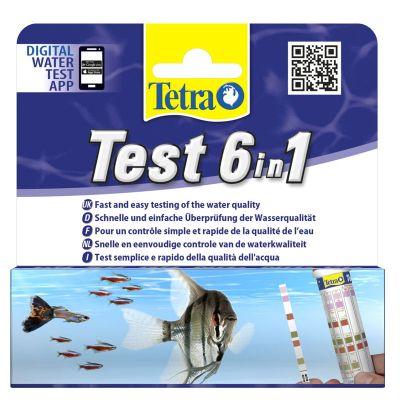 Tetra Test 6 in 1 Tatlı Su Stip Stick 25 Adet