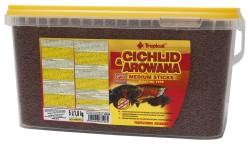 Tropical - Tropical Cichlid Arowana Medium Sticks 10 Lt / 3600 Gr