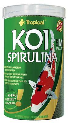 Tropical Koi Spirulina Pellet Size M 1000 ML / 320 Gram