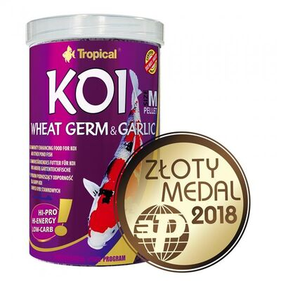 Tropical Koi Wheat Germ Garlic Pellet Size M 1000 ML / 320 Gr