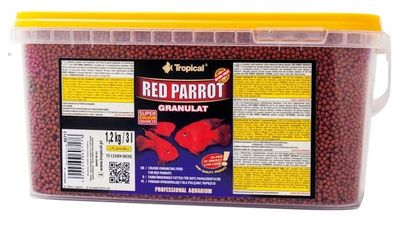 Tropical Red Parrot Granulat 3 Lt / 1200 Gram
